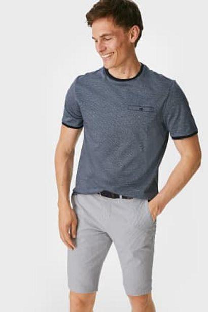 Bermuda avec ceinture - à rayures offre à 9,99€