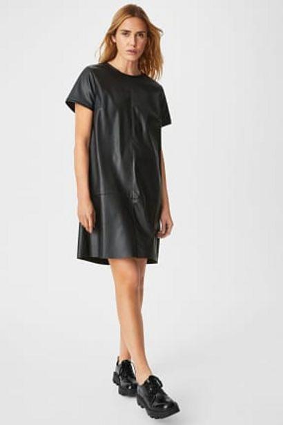 Robe fourreau - similicuir offre à 14,99€