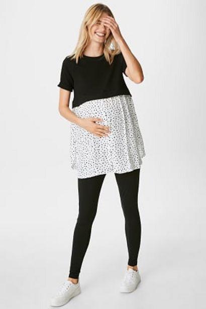 T-shirt de grossesse - look 2-en-1 offre à 9,99€