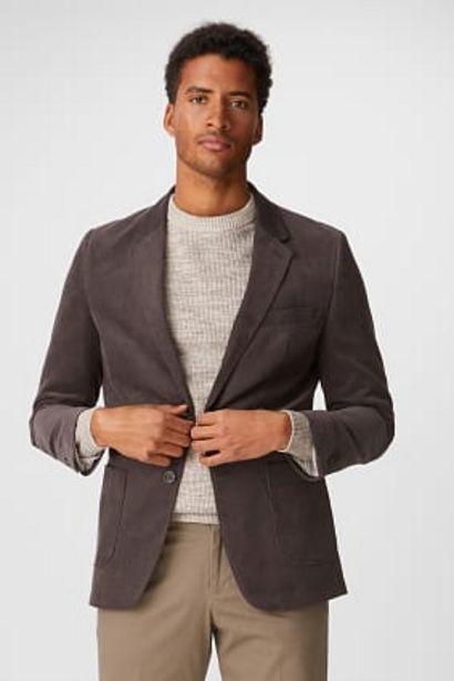 Veste de bureau en velours côtelé - regular fit offre à 29,99€