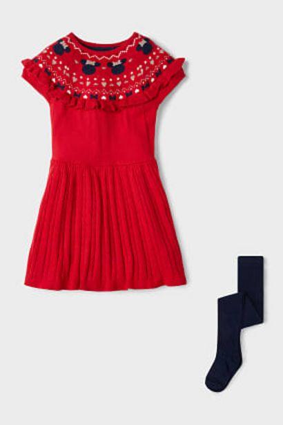 Minnie Mouse - ensemble - robe et collant - finition brillante offre à 7,99€