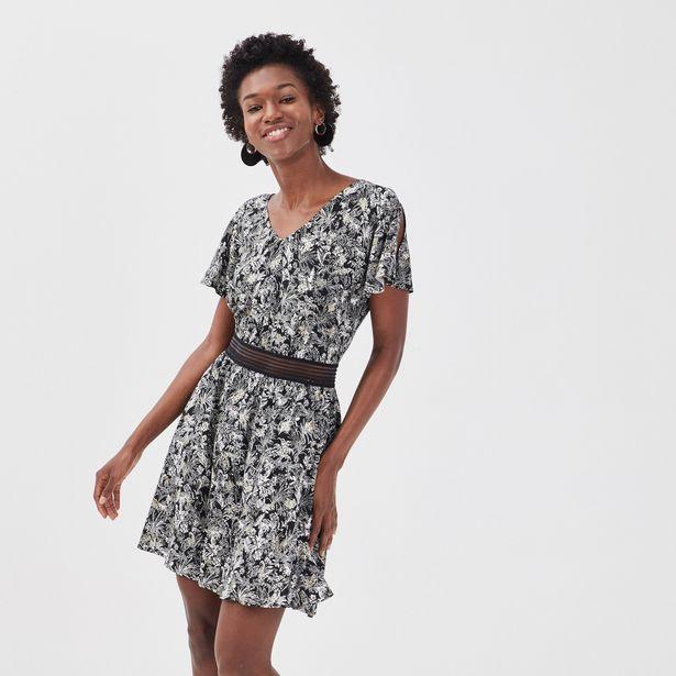 Robe évasée détail dos noir femme offre à 28,79€