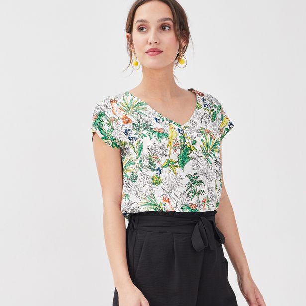 T-shirt manches courtes blanc femme offre à 11,19€