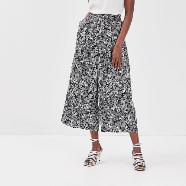 Pantalon large fluide noir femme offre à 20,79€