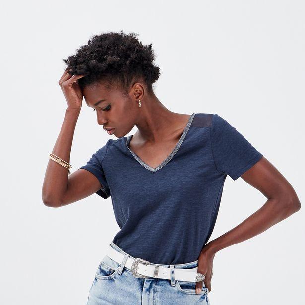 T-shirt manches courtes bleu marine femme offre à 9,99€