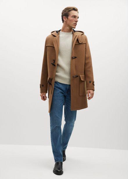 Manteau long laine recyclée offre à 45,99€