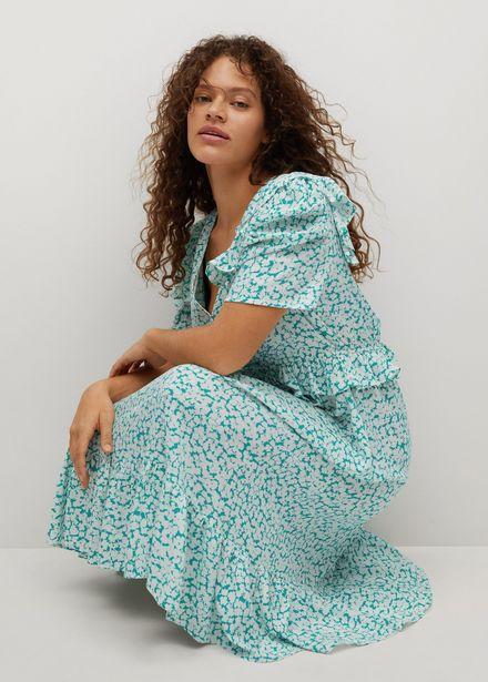 Robe imprimée volantée offre à 19,99€