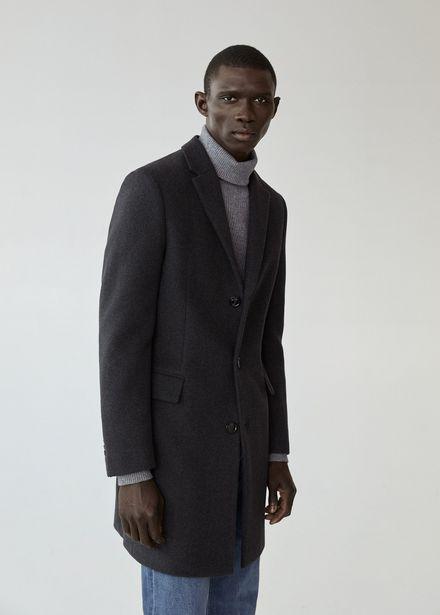Manteau long laine recyclée offre à 149,99€
