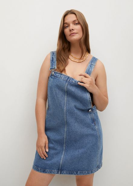 Robe chasuble denim boutons offre à 35,99€