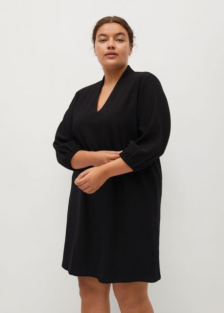 Robe courte col V offre à 22,99€