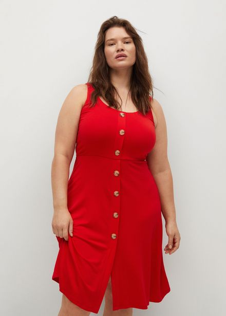 Robe maille boutons offre à 22,99€