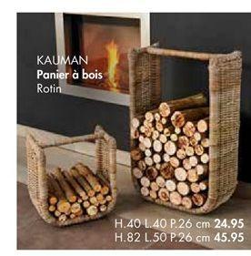 KAUMAN panier à bois offre à 24,95€