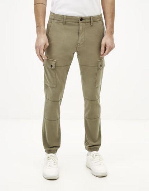 Pantalon cargo slim maille offre à 39,99€