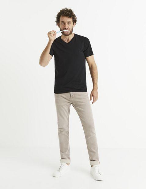 T-shirt col V coton stretch offre à 12,99€