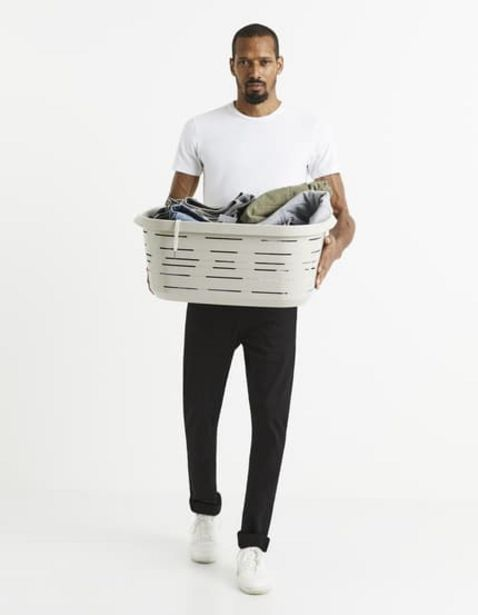T-shirt col rond coton stretch offre à 12,99€