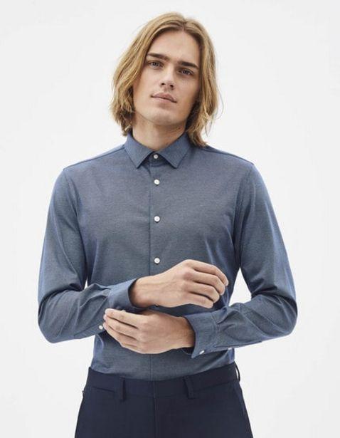 Chemise slim en maille offre à 15€