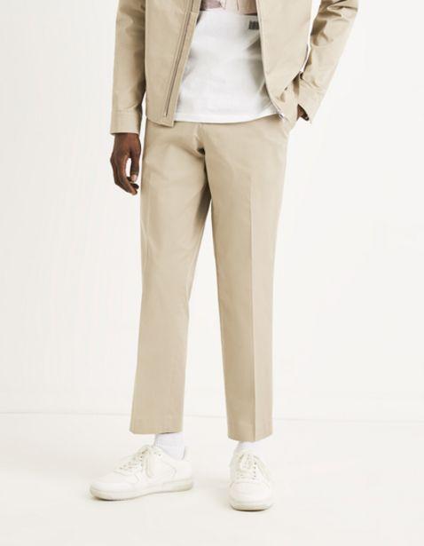 Pantalon straight élastiqué offre à 25€