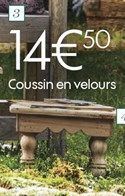 Coussin en velours  offre à 14,5€