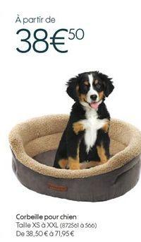 Corbeille pour chien offre à 38,5€