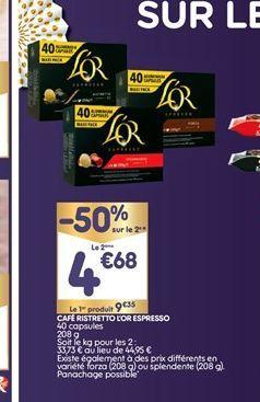 Café ristretto L´or espresso offre à 9,35€