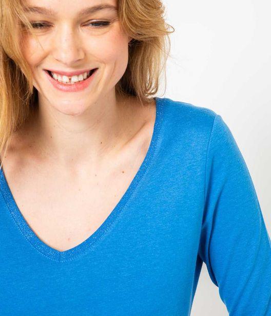 T-shirt coton mélangé femme offre à 9,99€