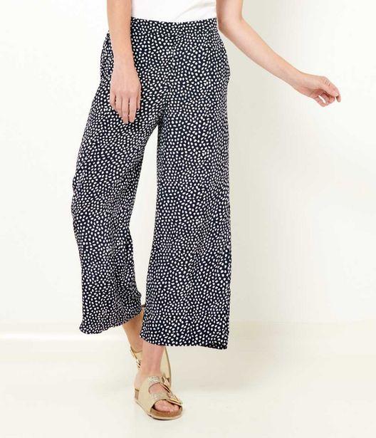 Pantalon large écourté femme offre à 12€