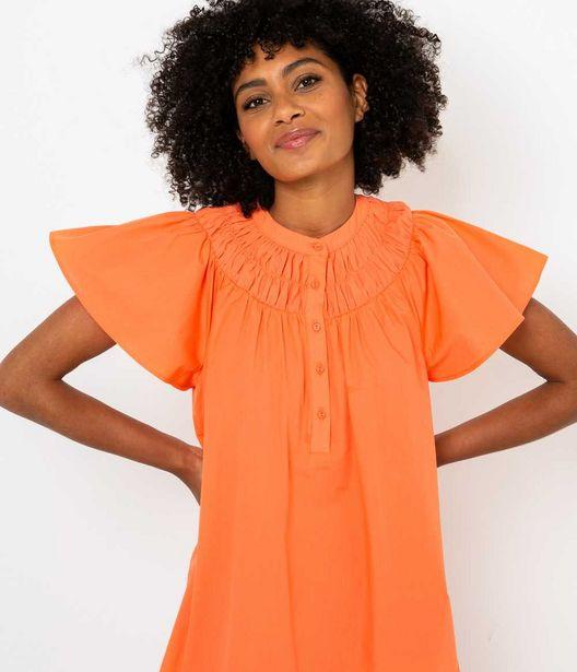 Robe courte orange offre à 15€