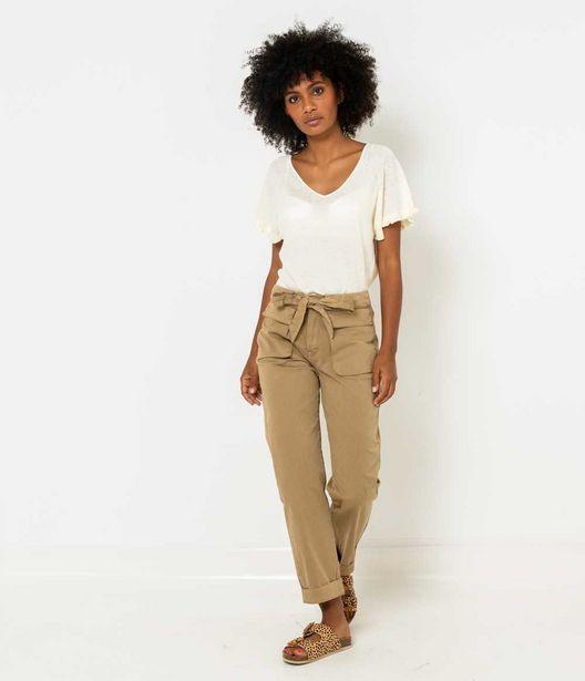 Pantalon poches cargo femme offre à 12€