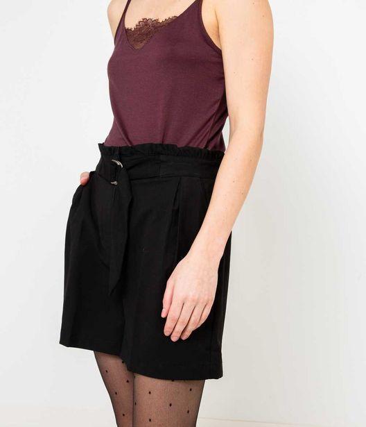 Short taille haute femme noir offre à 25,99€