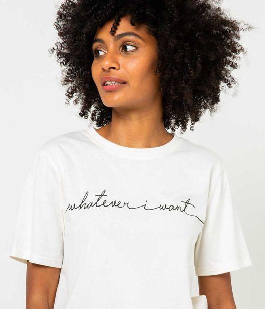 """T-shirt brodé """"WHATEVER I WANT"""" femme co… offre à 5€"""