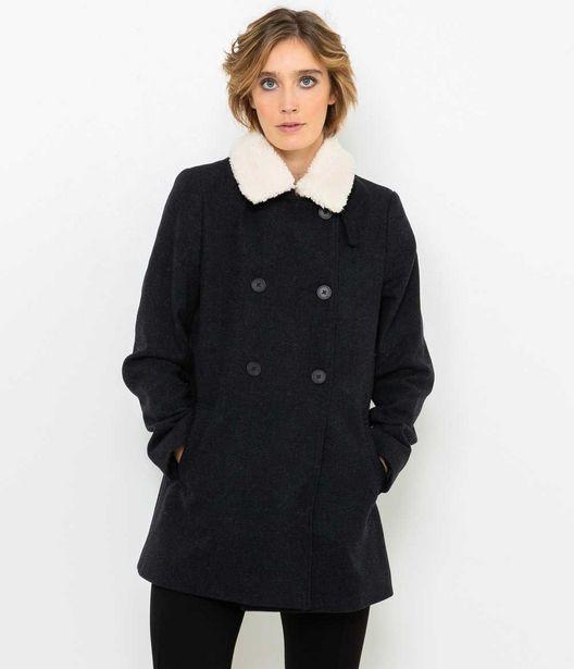 Manteau femme col amovible offre à 48,99€