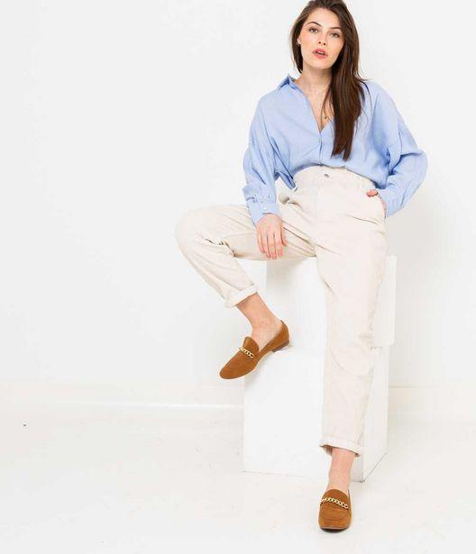 Pantalon chino femme en velours offre à 12€