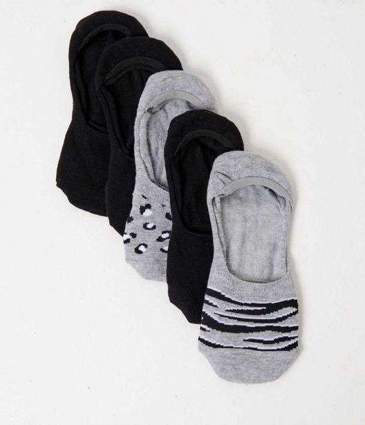 Chaussettes femme invisibles et fantaisi… offre à 4€