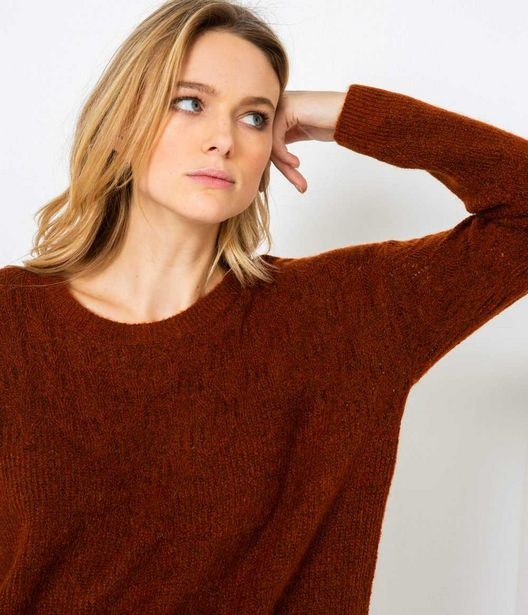Pull femme col rond offre à 20,99€