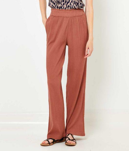 Pantalon large en crépon femme offre à 12€