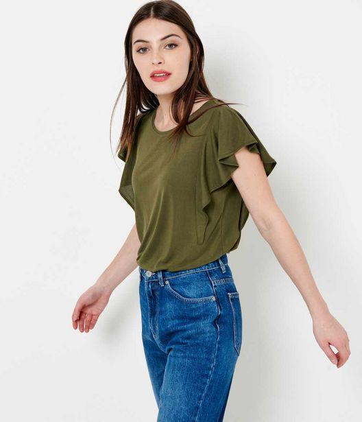 T-shirt femme manches volants offre à 11,19€