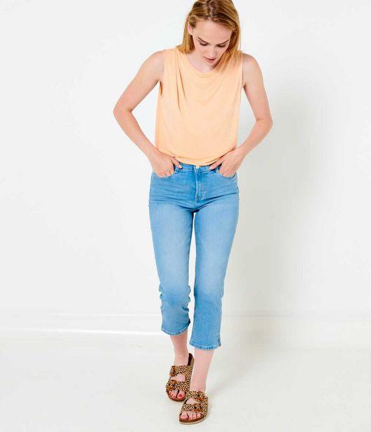 Pantacourt en jean femme coton bio water… offre à 10€