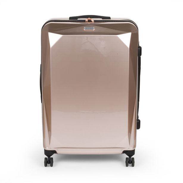 Valise abs rose metallic 78cm offre à 59,99€