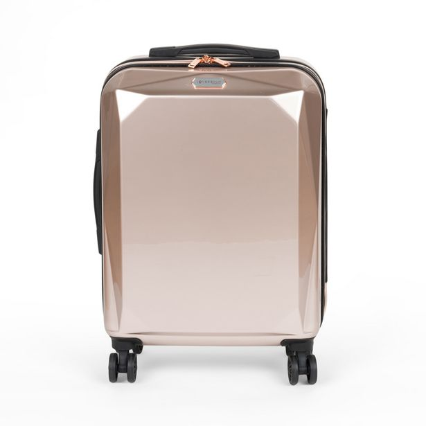 Valise cabine abs rose metallic offre à 34,99€