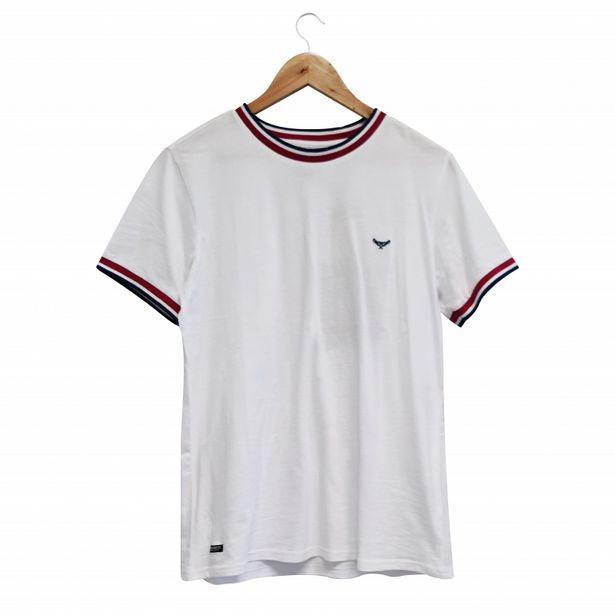 Tshirt rib col & manches blanc offre à 7,99€