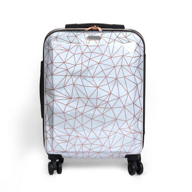 Valise cabine abs geometrique 55 offre à 34,99€