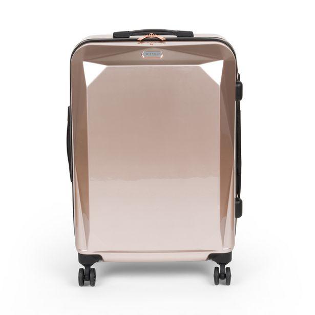 Valise abs rose metallic 66cm offre à 49,99€