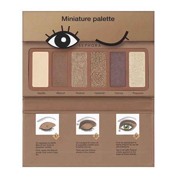 Mini palette cookie - palette de 6 fards à paupières format voyage offre à 9,99€