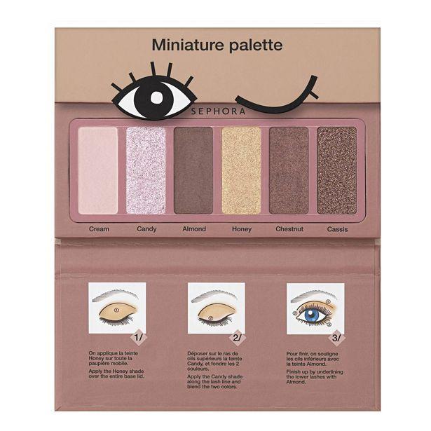 Mini palette donut - palette de 6 fards à paupières format voyage offre à 5,49€