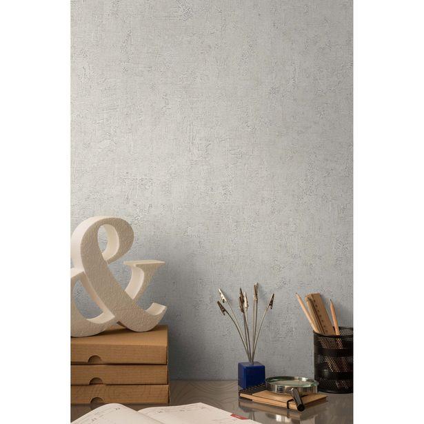 Papier peint vinyle sur intissé Patine écru offre à 10,9€