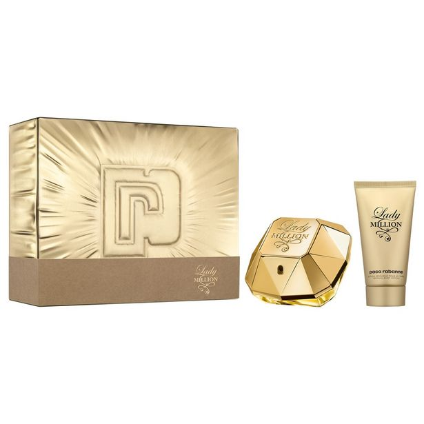 Paco Rabanne LADY MILLION Eau de parfum 50ml et son lait pour le corps 75ml COFFRET ALCOOL offre à 56,35€