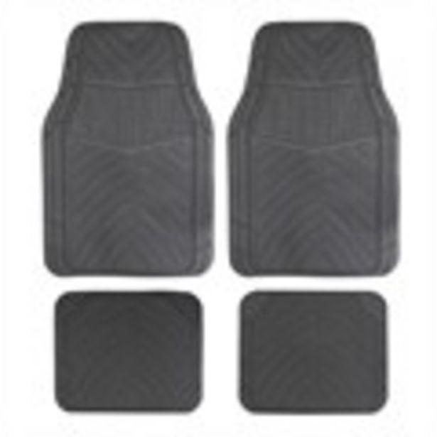 Jeu complet de tapis universels noirs en PVC Optima offre à 9,99€
