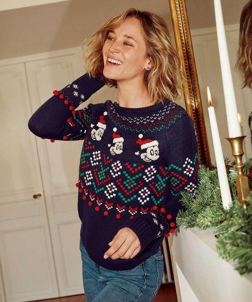 Pull femme spécial Noël avec motifs Mickey - Disney offre à 19,99€