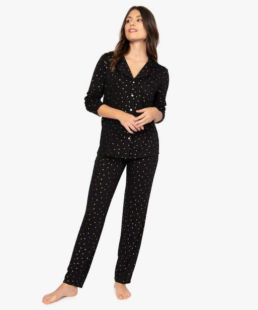 Pyjama femme deux pièces : chemise et pantalon offre à 19,99€