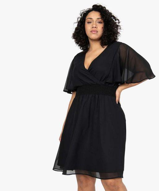 Robe femme en voile à taille smockée  offre à 17,49€